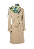 Beige trench coat. Royalty Free Stock Photos