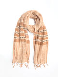 Beige tweed fabric scarf Stock Photography