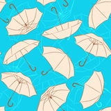 Beige umbrellas Stock Photos