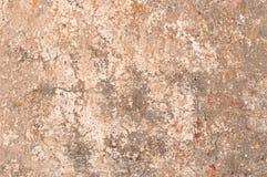Beige und grauer, verkratzter, getragener Schmutz-Hintergrund, Tapete Stockfotos