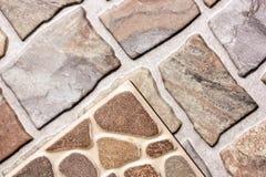 Beige und Keramikziegel-Muster Browns Stockfotos
