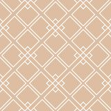 Beige und weiße geometrische Verzierung Nahtloses Muster stock abbildung