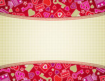 Beige valentine background Stock Photo