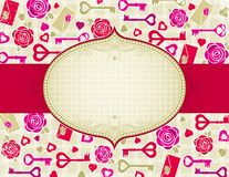 Beige valentine background,  Royalty Free Stock Image