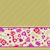 Beige valentine background,  Stock Images