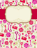 Beige valentine background,  Royalty Free Stock Photos