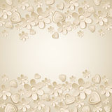 Beige valentine background with many flowers. Vector illustration Royalty Free Stock Images