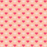 Beige valentines background. With hearts Stock Images