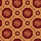 Beige vector geometrical texture with octagons Royalty Free Stock Photography