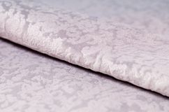 Beige velour textile samples. Fabric texture background Royalty Free Stock Image