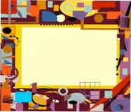 Beige vuoto dello spazio del briciolo variopinto astratto della composizione per il vostro testo Fotografia Stock Libera da Diritti
