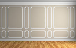 Beige wall in classic style room Stock Photo