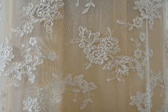Beige wedding cloth background Royalty Free Stock Images