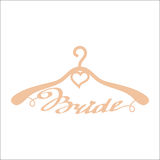 Beige wedding hangers for bride Stock Image