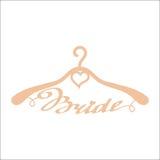 Beige wedding hangers for bride Stock Image