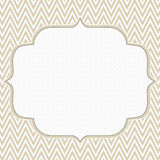 Beige and White Chevron Zigzag Frame Background Stock Photography