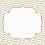 Beige and White Chevron Zigzag Frame Background Stock Photography