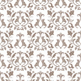 Beige and white damask seamless pattern Royalty Free Stock Photography