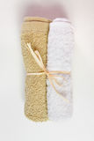 Beige and white face towel Royalty Free Stock Images