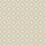 Beige and White Fleur-De-Lis Pattern Textured Fabric Background Royalty Free Stock Image