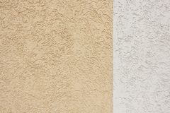 Beige and white wall texture. With abstract pattern Stock Photography