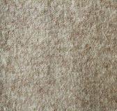 Beige wol gebreide textuur Stock Foto's