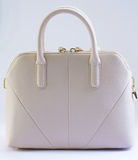 Beige women handbag Stock Photography