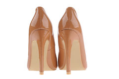 Beige women shoes Stock Photo