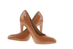 Beige women shoes Stock Image