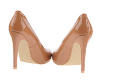 Beige women shoes Stock Photography