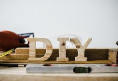 Beige Wooden D, I and Y Freestanding Letters