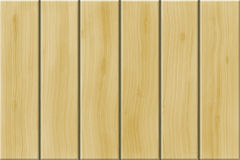 BEIGE WOODEN PLANKS. Background of beige wood divided into planks Stock Photo