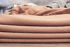 Beige wool Stock Images