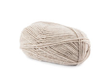 Beige wool yarn ball Stock Photos