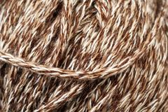 Beige Yarn Texture Close Up Royalty Free Stock Image