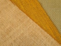 Beige Yellow Green Colourful textile in diagonal Royalty Free Stock Photos