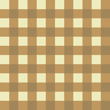 Beige and yellow seamless checkered background Stock Photography
