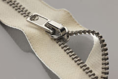 Beige zipper Stock Photography