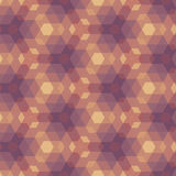 Beigea Violet Geometric Pattern. Royaltyfri Bild