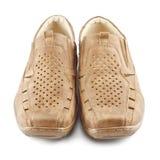 beigen shoes suede Arkivbilder