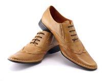 beigen shoes två Arkivbild