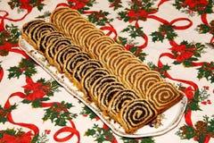 Beigli est le gâteau hongrois célèbre de Noël photographie stock