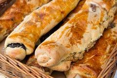 Beigli rolki, hungarian jedzenie z makowym ziarnem i orzech włoski, Zdjęcie Stock