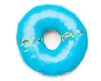 Beignet bleu savoureux Photos libres de droits