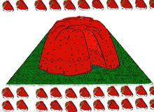 Beignet de fraise Photo stock