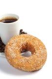 Beignet et café doux Photographie stock libre de droits