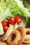 Beignet et sucre - salade de légume frais. Image stock