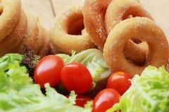 Beignet et sucre - salade de légume frais. Photo stock