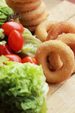 Beignet et sucre - salade de légume frais Photos libres de droits