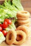 Beignet et sucre - salade de légume frais Photo stock